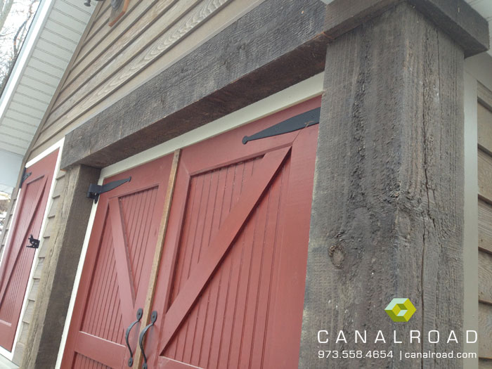 Authentic hand hewn beams are reminiscent of turn of the century craftsmanship